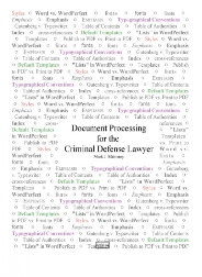 Document Processing for the Criminal Defense Lawyer - Publication (PDF) by Mark J. Mahoney